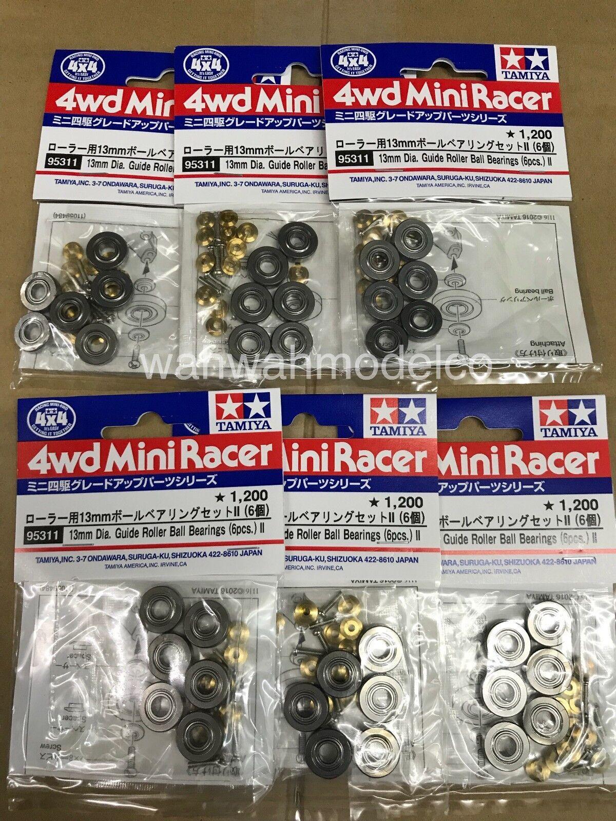 Tamiya 95311 1 32 Mini 4WD 13 mm diamemter Guía Rodillo Rodamientos de bolas II 6 piezas