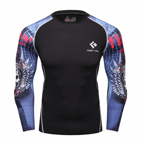 Men/'s Athletic Compression Shirts Running Gym Tops Long Sleeved Tights Dri fit
