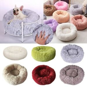 Comfy-Calming-Dog-Cat-Bed-Round-Super-Soft-Plush-Pet-Bed-Marshmallow-Cat-Bed