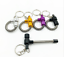 Portable Metal Keychain Spring Smoking Pipe Aluminum Detachable Pipes New