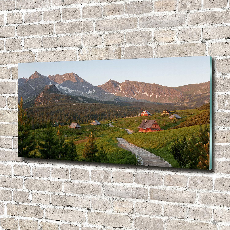Acrylglas-Bild Wandbilder Druck 140x70 Deko Landschaften Lichtung Tatra
