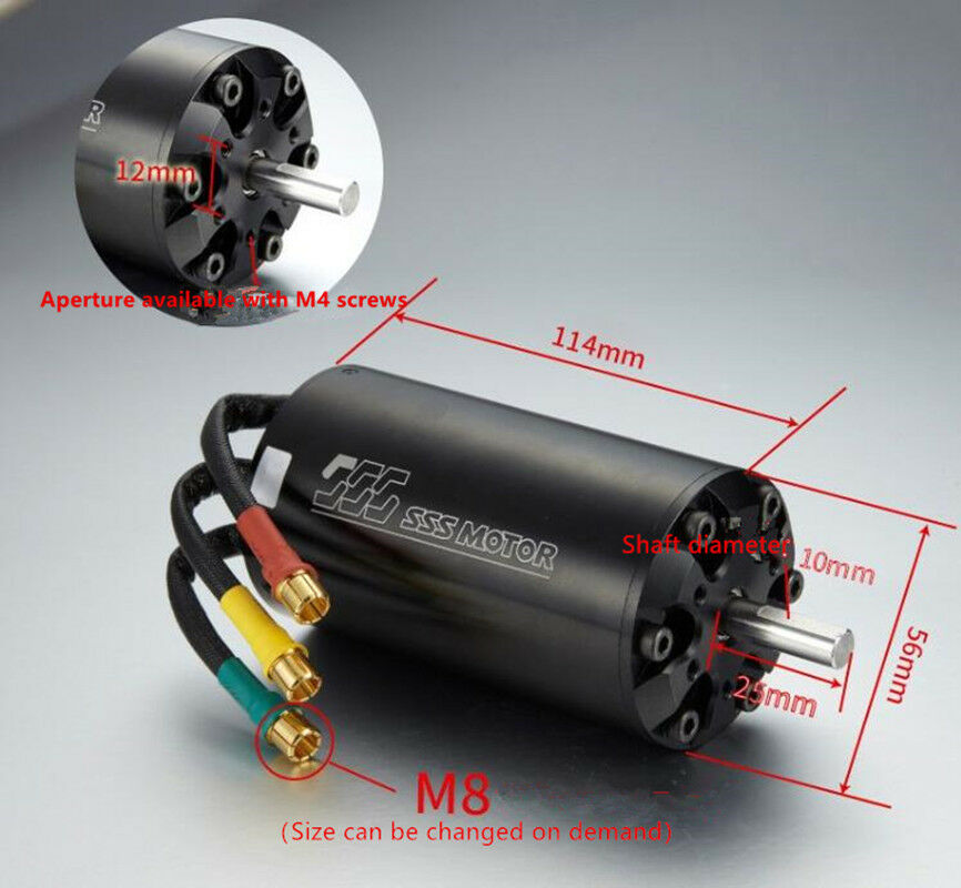 SSS 56114 360KV Brushless Motor 6 Poles For RC Boats