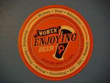 Beer Brewery Coaster: Women Enjoying Beer www.KSKQ.org Live Streaming Radio Show
