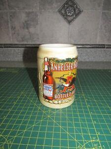 Anheuser-Busch-Beer-Stein-Mug-Budweiser-Bottled-Beer-By-Ceramarte-Vintage-1991