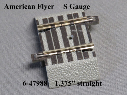 "LIONEL AMERICAN FLYER FASTRACK 1 3//8/"" STRAIGHT S GAUGE 2 rail track 6-47988 NEW"