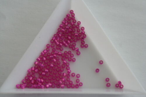 Size 11 2mm #1848 600 beads appro Silver Lined Milky Hot Pink Toho Seed Beads