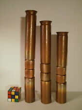 Thomas Roy Markusen Brutalist hammered and formed Patinated Copper Candlesticks