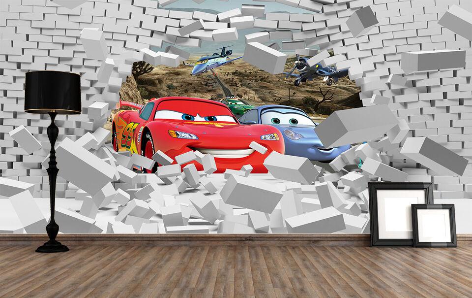3D Cars and Blau Cool 1 WallPaper Murals Wall Print Decal Wall Deco AJ WALLPAPER