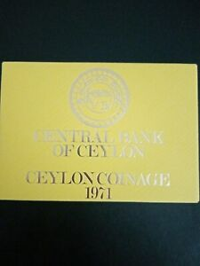 Collectable Royal Mint 1971 Ceylon 7 Coin Proof Set