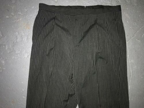 VTG 40S 40 X 32 STRIPE SALT PEPPER SUSPENDER BUTTO