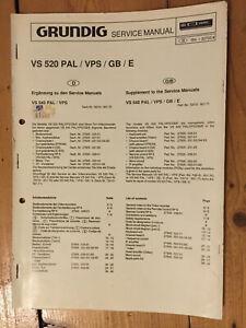 GRUNDIG-VS-520-service-video-manuel-PAL-SPV-Circuit-amp-Blocs-diagrammes-de-liste-de-pieces