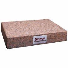 Starrett 81803 8 X 12 Crystal Pink Granite Toolmakers Flat