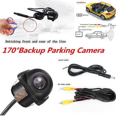 170 Degree Waterproof Car Front Side Rear View Reverse Parking Backup CCD Camera