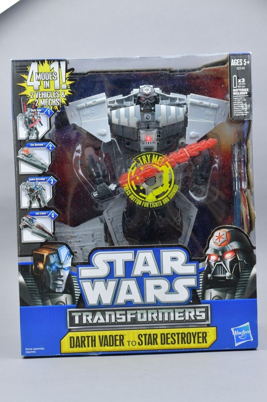Transformers Star Wars Credver Darth Vader Star Destroyer MISB