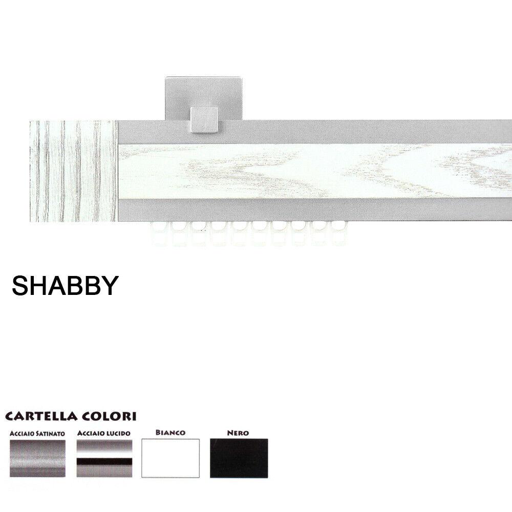 Scorritenda Corda Strappo Bastone Tenda Piatto Alluminio Terminale Shabby Shabby Shabby SARANI 951a44