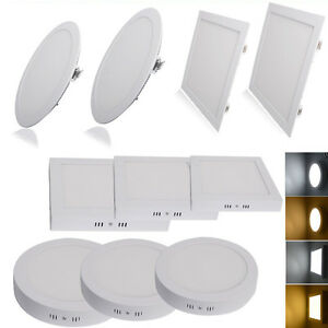 3w 24w surface mounted recessed led ceiling flat panel light lamp image is loading 3w 24w surface mounted recessed led ceiling flat aloadofball Choice Image