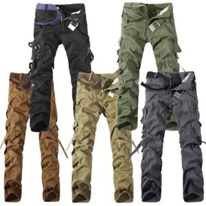 Mens-Military-Camou-Casual-Pants-Combat-Tactical-Army-Cargo-Cotton-Trousers-Lot