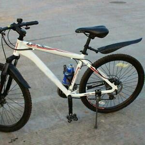 Mountainbike-Fahrrad-Rennrad-Reifen-Vorne-Hinten-Kotfluegel-U3U0-Schwarz-Set-Y8I4