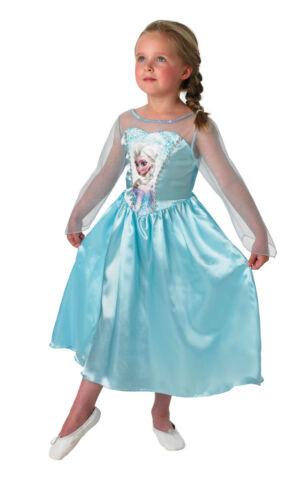 COSTUME FROZEN Principessa Anna Elsa Carnevale Vestito Bambina Originale Disney