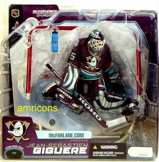 McFarlane Sports NHL Series 7 Jean-Sebastien Giguere Variant Action Figure .