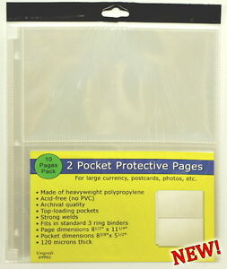 30 pages THREE PACKS of Unigrade 9 pocket pages for coin slab holders,