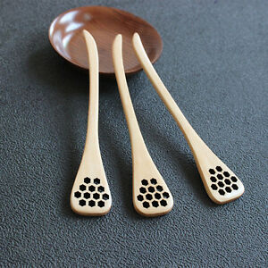 Bionic-Natural-Wooden-Honey-Dipper-Drizzler-Server-Mixing-Stick-Spoon-Healthy-EA