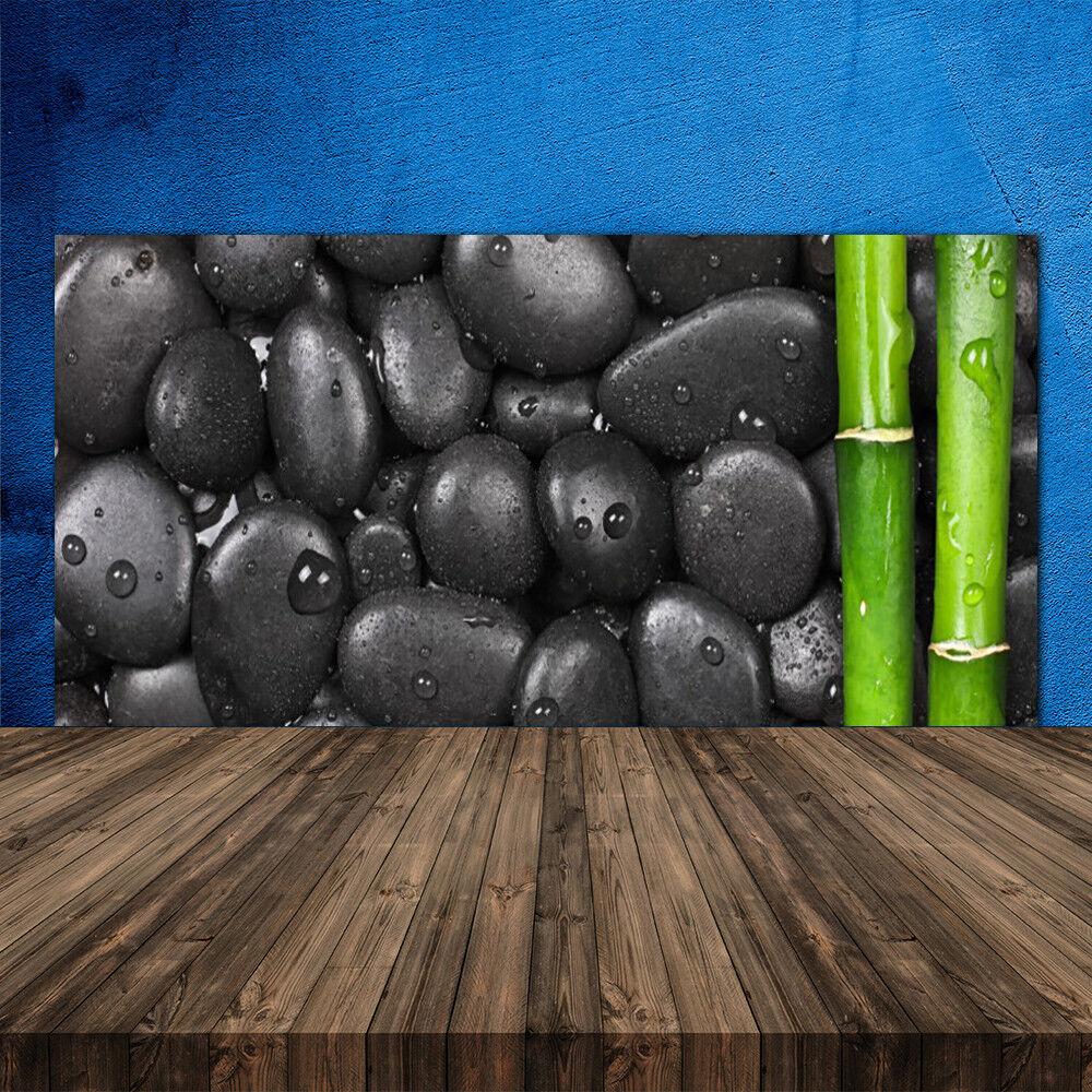 Joyeuses  fêtes  Joyeuses Meilleure offre! Crédence de cuisine en verre Panneau 120x60 Art Pierres Bambou bacca2