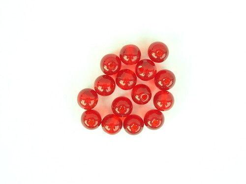 Glasperlen für Texas /& Carolina Rigs Fluo-rot oder klar 6mm 10mm mit Loch