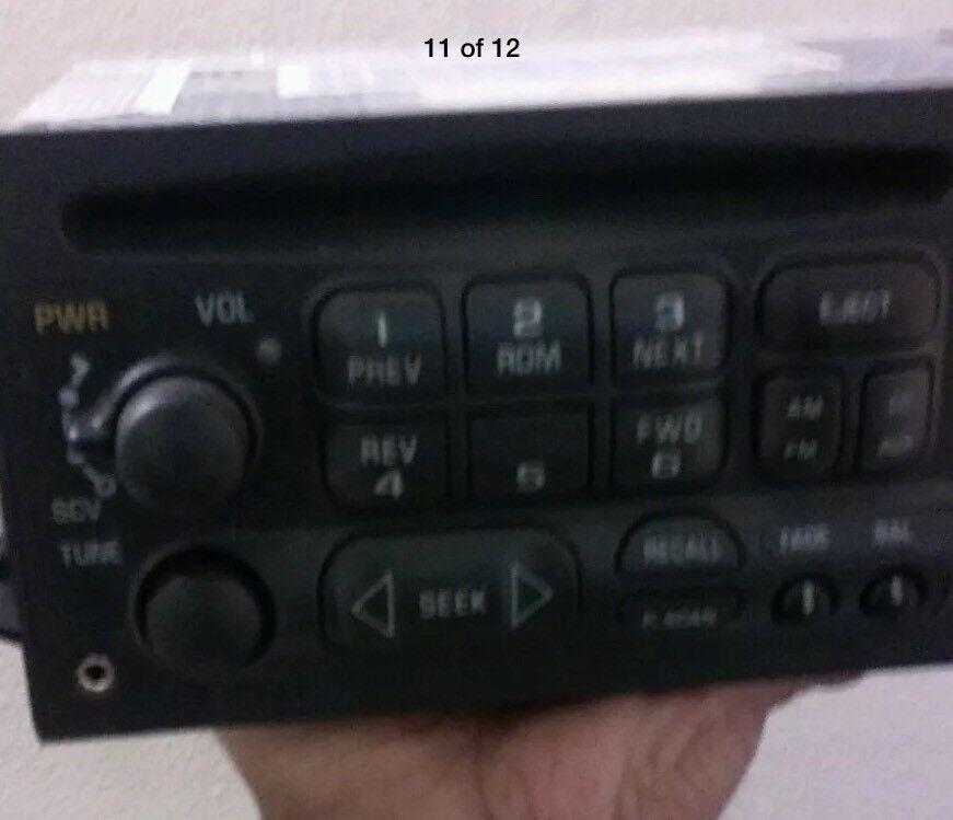 Tahoe Silverado 1500 CD Player Receiver DELCO OEM 15766343 BLUETOOTH CAPABILITY
