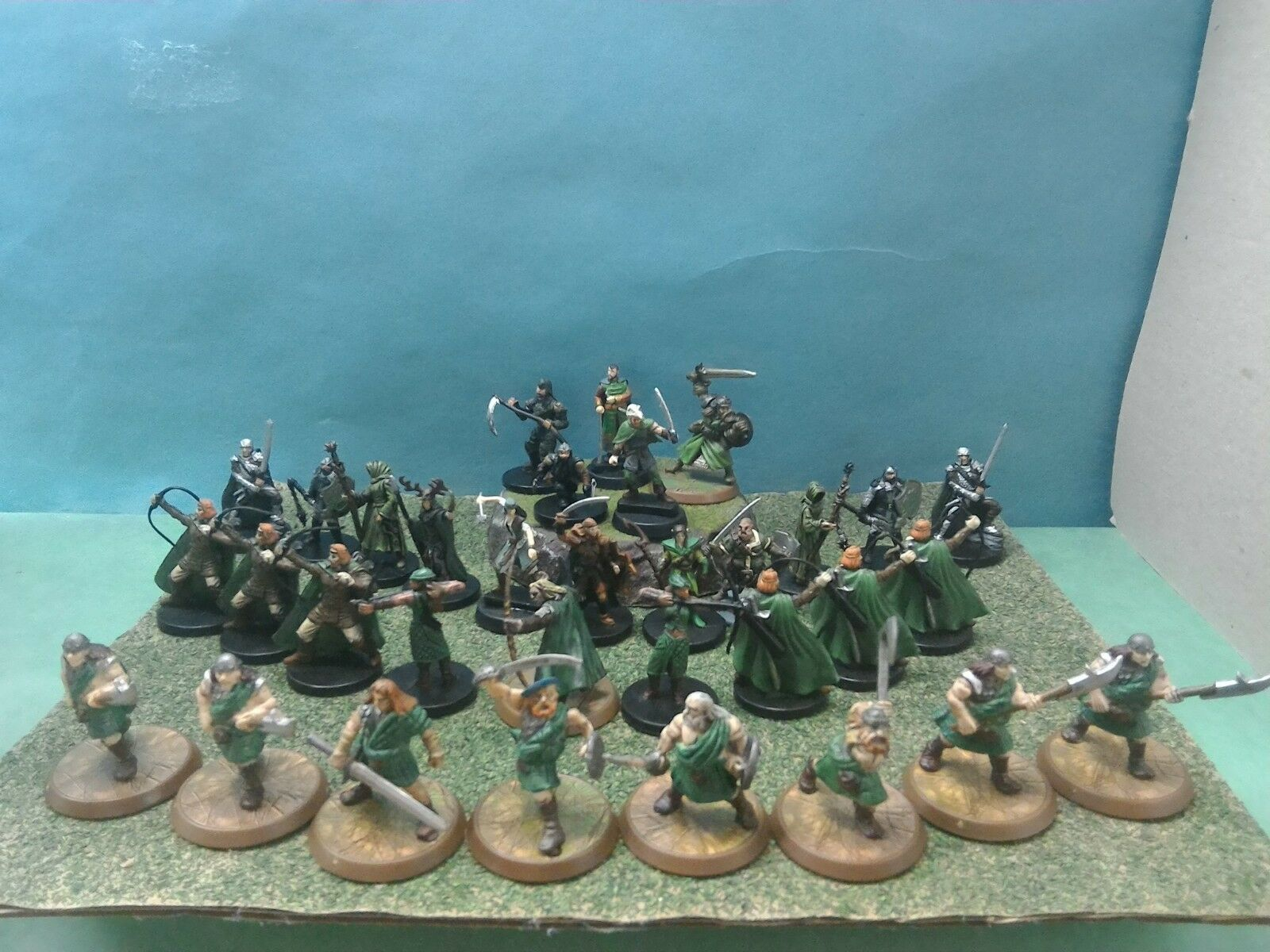 Dungeons & Dragons or Pathfinder miniatures The Green Cult of the Emerald Claw