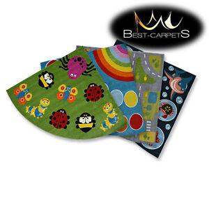 Incroyable-Moderne-plein-de-Couleurs-Tapis-039-Peinture-039-Quart-Cercle-pour-Enfants