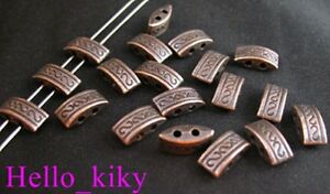 70Pcs-Antiqued-copper-plt-2-hole-carved-spacer-beads-A33