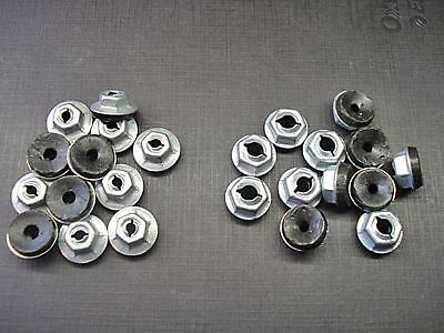 """25 pcs 1//8/"""" emblem script name plate letter thread cutting nuts with sealer Ford"""
