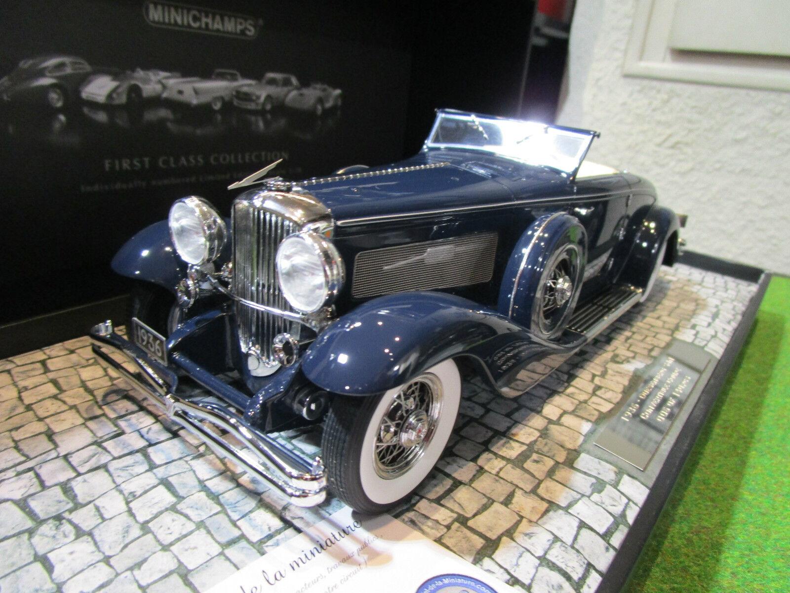 DUESENBERG SJN converdeible coupé 1936 blu 1 18 d MINICHAMPS 107150332 cabriolet