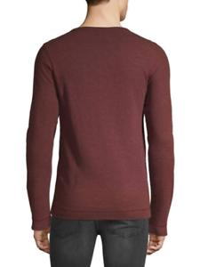 a89a7bbf4 Shirts & Hemden Boss Hugo Boss Trix 50378288 Men's Red Micro Waffle Slim  Fit L/S Henley Shirt