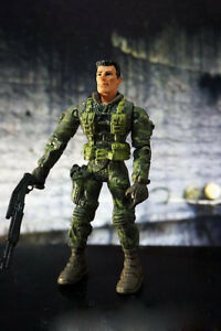 "3.75/"" Gi Joe Storm Shadow with 5pcs Accessorie  Rare Action Figure"