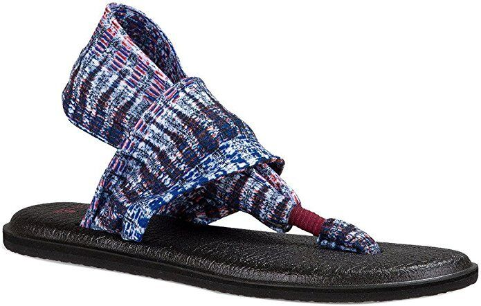Women DPMI Sanuk Yoga Sling 2 Prints Flip Flop 1017986 DPMI Women Dusty Peri 100% Original 4f875f