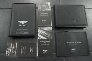 Bentley-Continental-GT-Speed-Bedienungsanleitung-Handbuch-Mappe-Leder-Englisch