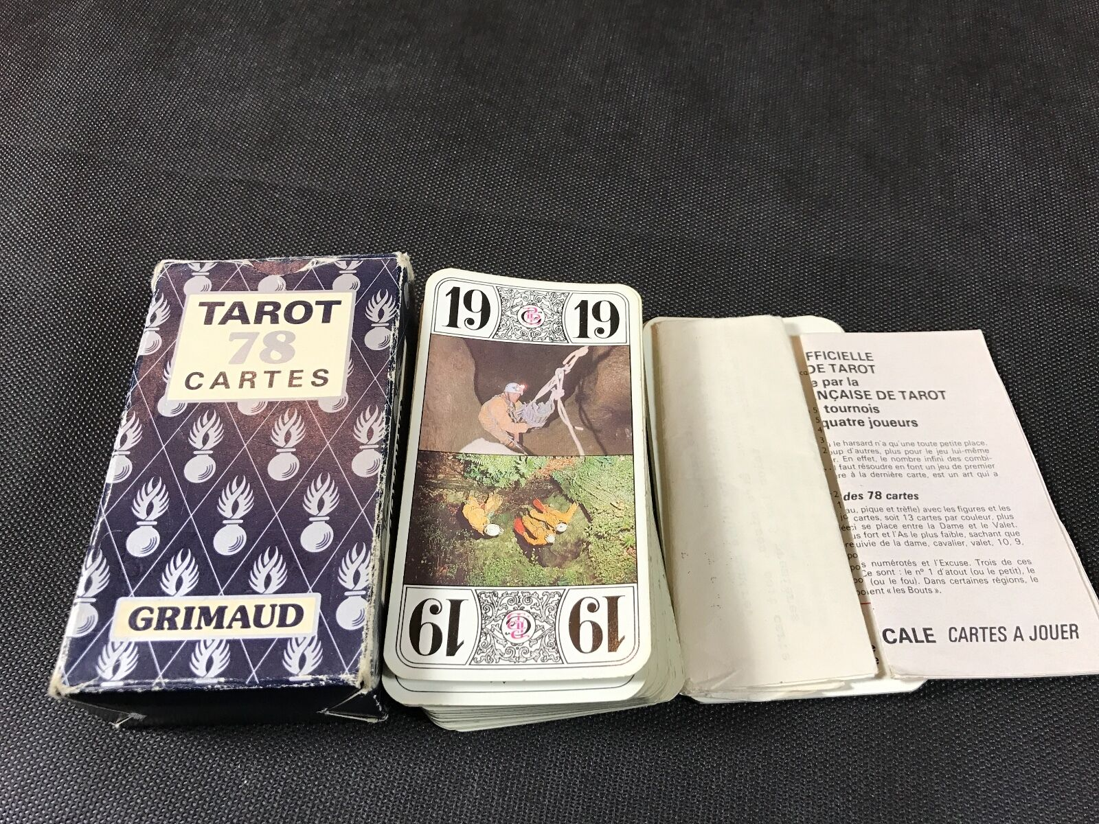 Old card game 78 complete gendarmerie grimaud tared