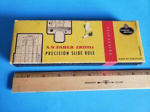 antique a.w. faber castell model 67/87 slide rule w/original box  instructions   ebay