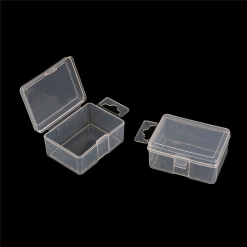 2x Small Plastic Storage Box Clear Multipurpose Part Product Case 5.2*4*2.5cm LL