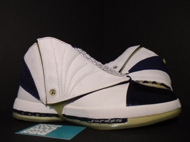 2001 NIKE AIR JORDAN XVI XV1 16 WHITE NAVY blueE BLACK RED 136059-141 NEW 11