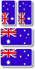 Vinyl sticker/decal Extra small 45mm & 35mm Australia flags - group of 4