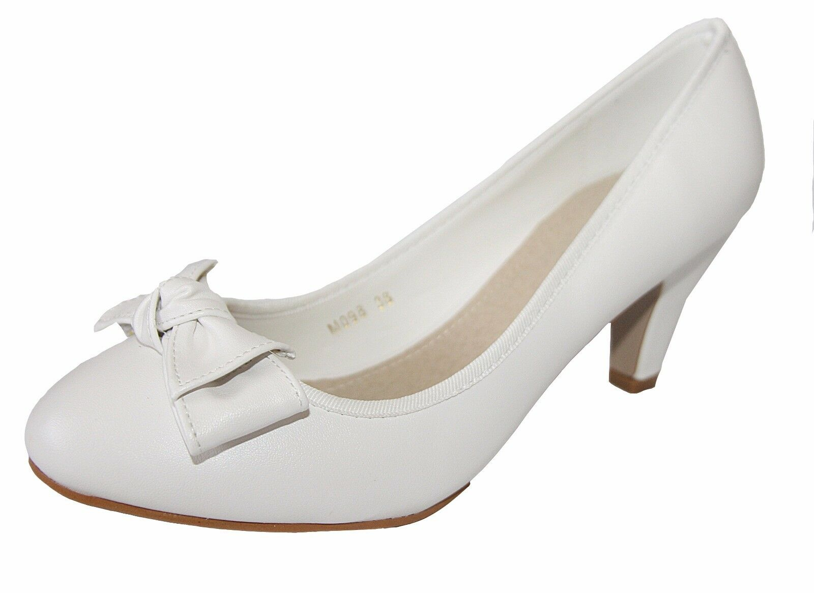 Evening Shoes Pumps Bridal Shoes Leather Look with Small Heel (S1) M098