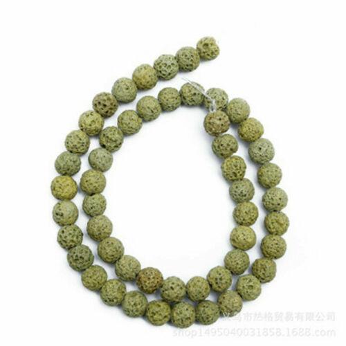 Natural Lava Rock Round Gemstone Bead Loose Spacer Bead DIY Craft 4-14mm