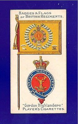 The GORDON HIGHLANDERS  The Gay Gordons  BYDAND  Flag & Badge 1904 original