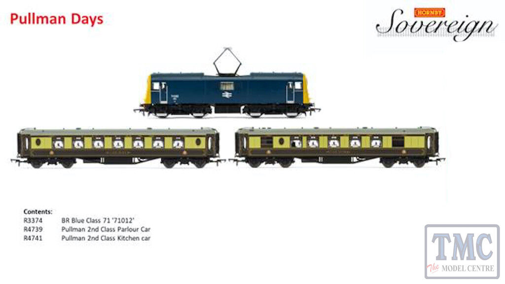 R3791 Hornby OO Gauge Sovereign Pullman Days Train Pack