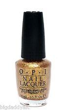 New OPI Nail Polish GOLDENEYE Golden Eye James Bond Skyfall 007 Gold Shimmer