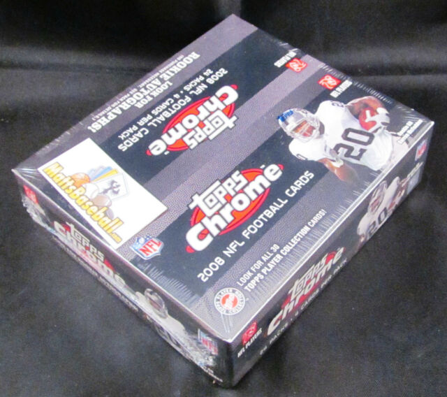 2008 TOPPS CHROME Football Retail FACTORY SEALED BOX - 24 packs/4 cards