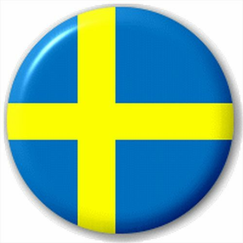 Swedish Flag Small 25mm Lapel Pin Button Badge Novelty Sweden